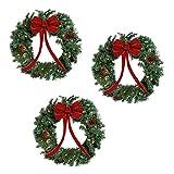 Nantucket 22 inch Lighted Christmas Wreaths - 3 Wreath Set