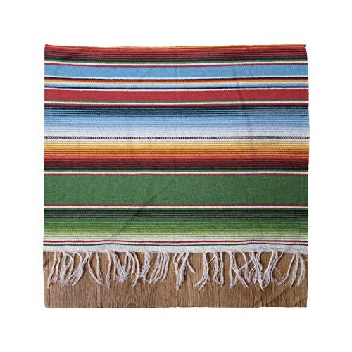 Lunarable Mexican Bandana, Ethnic Horizontal Stripes, Unisex Head and Neck Tie