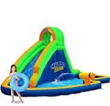 Product Image of the Blast Zone Hydro Rush - Inflatable Water Park with Blower - Curved Slide -...