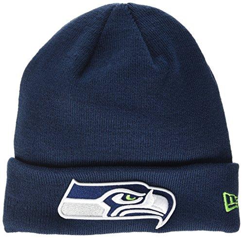 """New Era Herren-Strickmütze mit Logo der """"Seattle Seahawks"""", Blau (Marineblau), Einheitsgröße"""