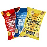 THE CURATORS Pork Puffs - Variety Pack, 22g (12 Packs) - High Protein