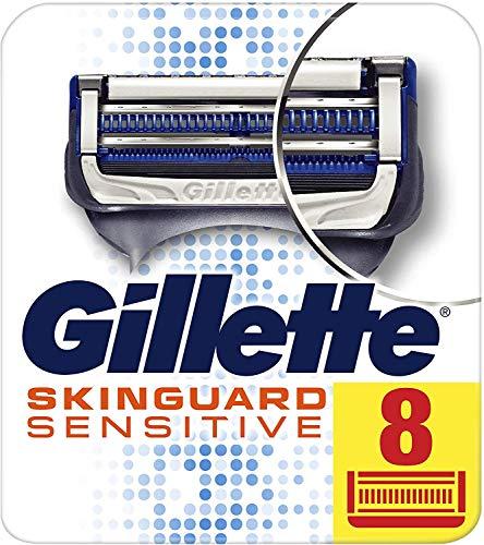 Gillette SkinGuard Sensitive Rasierklingen, klinisch getestet für empfindliche Haut, 8 Ersatzklingen