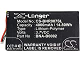 1250mAh Battery for Barnes & Noble 005, Nook, BNRZ100, BNRV100, Nook Classic