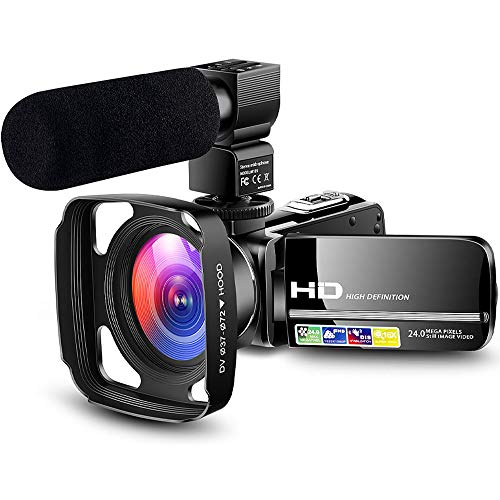 Camcorder Video Camera Ultra HD 1080P Vlogging YouTube Digital Recorder Camera with Powerful...