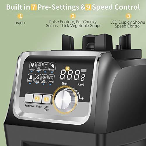 7 pre-programmed settings in ommo 1800 blender