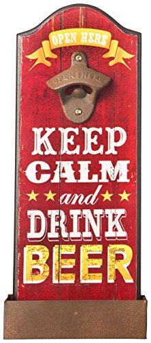 Fashioncraft - Abridor de botellas con texto en inglés 'Keep calm and Drink Beer'