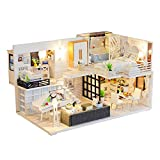 DIY Haus Kinder Holzhaus Puppenhaus Miniatur Mit Möbeln, Idee DIY Hölzernes...