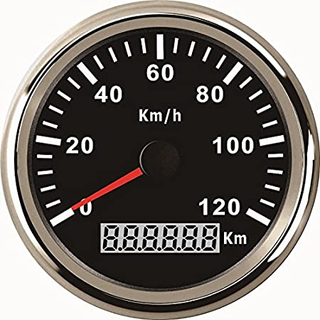 Eling Wasserdichte Km Gps Tacho Kilometerzähler 120km H Für Auto Motorrad Traktor Lkw Mit Hintergrundbeleuchtung 85mm 12v 24v Auto