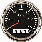 ELING Impermeable KM GPS Velocímetro Odómetro 120KM/H Para Coche Motocicleta Tractor Camión Con Luz de Fondo 85mm 12V/24V