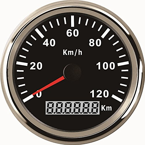 ELING Wasserdichte KM GPS Tacho Kilometerzähler 120KM/H Für Auto Motorrad Traktor Lkw Mit Hintergrundbeleuchtung 85mm 12 V / 24 V