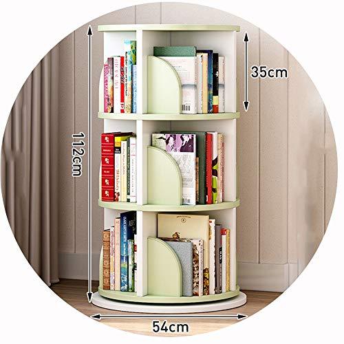 WXQ - Libreria per Bambini, Girevole a 360°, Divertente e Multifunzionale, per la Stanza dei Bambini, per la Stanza dei Giochi, la Scuola Materna, Idea Regalo per Bambini Verde