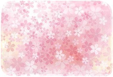 EGGDIOQ Doormats Cherry Blossoms in Full Bloom Custom Print Bathroom Mat Waterproof Fabric Kitchen Entrance Rug, 23.6 x 15.7i