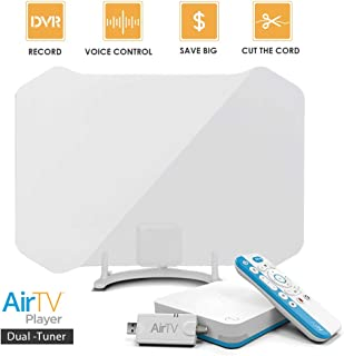 AirTV Player Dual-Tuner Adapter,Amplified HDTV Big BOY Antenna Bundles with DVR functionality,Local Channel Streamer with Sling, Google Play & Netflix Integration, Whole House Cord Cutting Solution