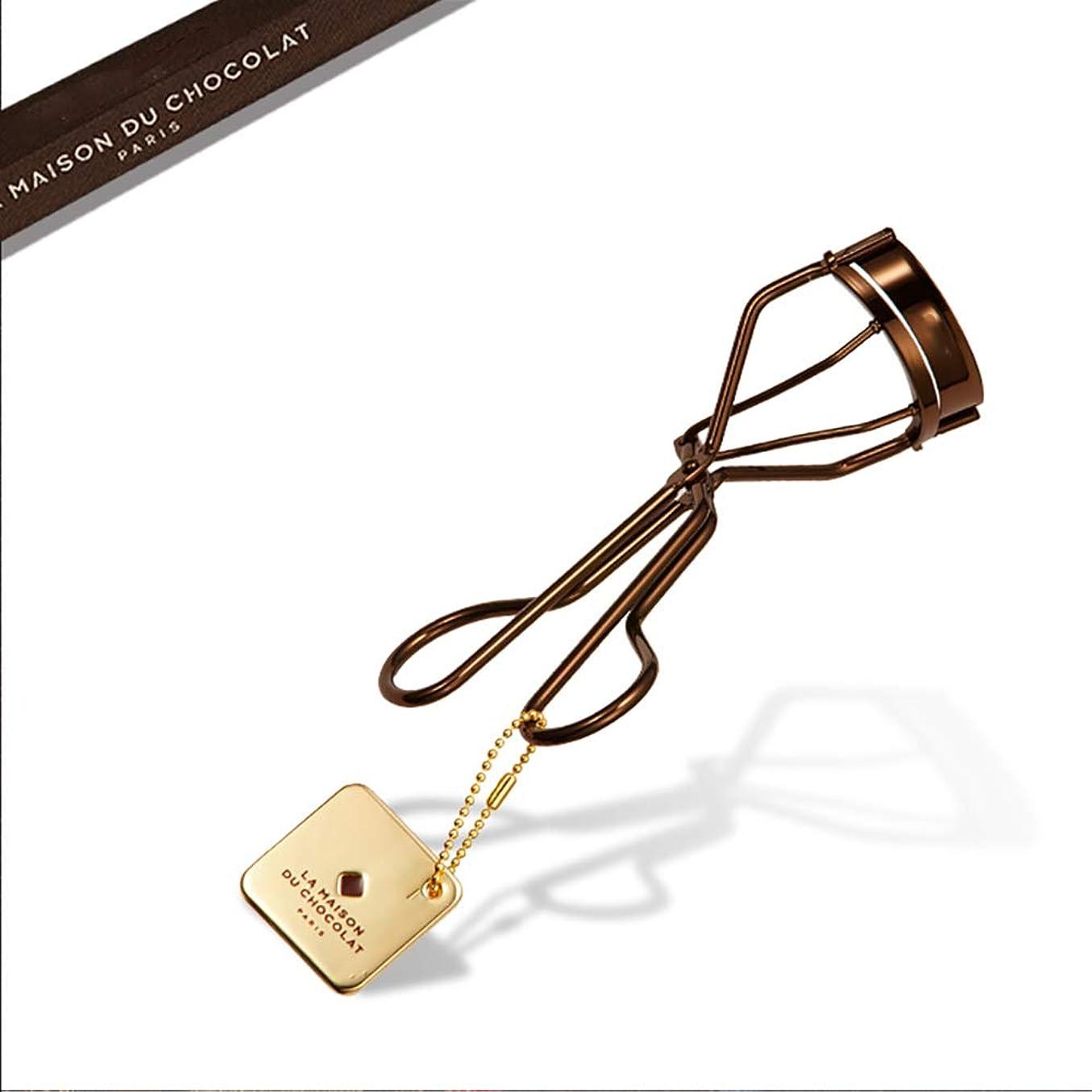 滑りやすい幻想アウターまつげカーラーポータブルまつげカーラー自然カールはまぶたを傷つけませんチョコレート