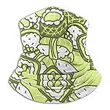 AEMAPE Neck Gaiter,Japan Sushi Meal Green Face Bandana Magic Scarf Headwear for Men & Women