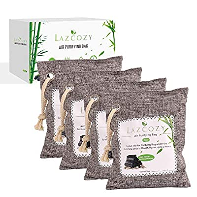 Bamboo Charcoal Air Purifying Bag with Hook, Od...