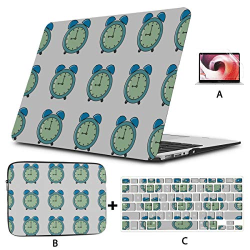 Macbook Case Compact Alarm Clock Weak Up Tool Cover Macbook Pro Hard Shell Mac Air 11'/13' Pro 13'/15'/16' With Notebook Sleeve Bag For Macbook 2008-2020 Version