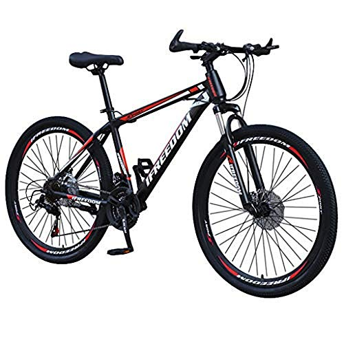 Fdrone Carbon Steel Full Mountain Bike, Stone Mountain 26 Inch 21Speed ​​Bicycle Full Suspension MTB Bikes,Outroad Mountain Bicycle, Suitable for Adult and Teens(Ship from US)