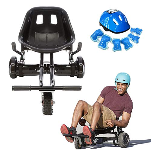 CZNDY Asiento Hoverboard,Silla de Scooter Self Balance,Casco