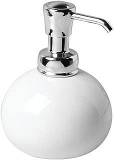 iDesign York Ceramic Soap Pump, Dispenser Holds 10 oz. for Kitchen, Bathroom, Sink, Vanity, 3.5