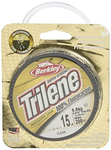 Berkley Trilene Fluorocarbon Professional Grade Filler Spool Fishing Line, Clear, 15 lb./200 yd.