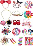 UMANSHI CREATIONS Hair Accessories Combo Hair clips, Hair Bands, Claw Clips Hair Elastic ponytail holder for Baby girls and teenagers (Random & Multicolour)