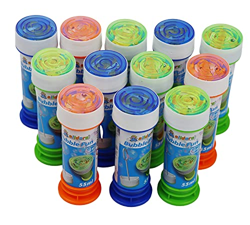 alldoro Bubble Fun 63072 - Burbujas de jabón (12 Unidades, 55 ml...