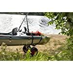 Pelican Boats - Universal Canoe, Kayak & Stand Up Paddle SUP Cart Carrier – PS1439-1 - Fold Together Trolley with Wide… 10 Collapsible – Folds together to easily take along on your trip or store Allows easy transportation of any Canoe, Kayak or Stand Up Paddle Board (SUP) Heavy Duty - Wide inflatable tires -Can carry up to 110 lb