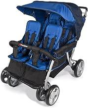 Foundations Quad Lx 4-Passenger Stroller, Regatta Blue