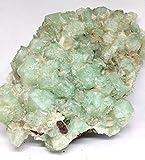 Minerali Bellissima drusa apofillite verde, provenienza India Mis.cm.21x16xh9 Kg.1,71