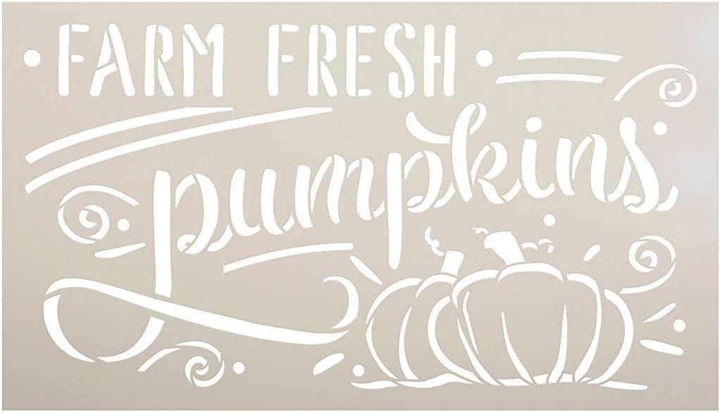 Pumpkin Stencil Halloween Autumn Farm Mylar Reusable/&Durable Template