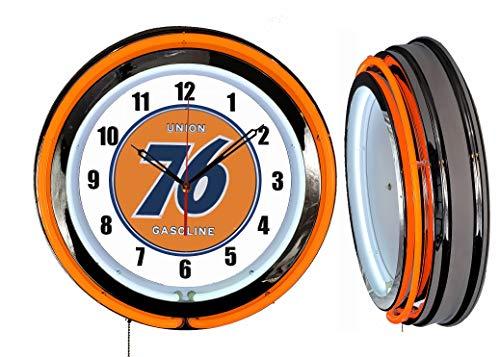 Checkingtime 19  Union 76 Neon Clock, Two Neon Tubes, Orange Outside Tube LLC
