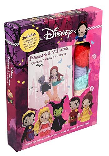 Disney Crochet Finger Puppets: Princess vs Villains (Crochet Kits)