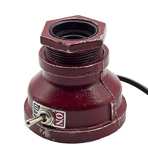 Loft-Stil Tischlampe Vintage Wasserpfeife Schreibtischlampe Kleines Industrielles Licht Nachttischlampe Dimmbare Nachttischlampe Steampunk Akzentlicht Edison-Lampenfuß Antikes Nachtlicht für Wohnzimme