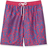 Amazon Essentials Men's Quick-Dry 9' Swim Trunk, Red Vintage Floral, X-Small