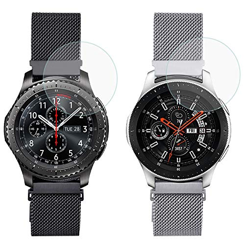 Koreda Compatible with Samsung Galaxy Watch 46mm/Galaxy Watch 3 45mm/Gear S3 Frontier/Classic Bands Sets, 22mm Stainless Steel Mesh Loop Bracelet Strap Replacement for Ticwatch Pro/Galaxy Watch 46mm Smartwatch