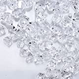 Bymore 1200 Pieces Clear Fake Ice Rocks Diamond - 4.9 Lbs Crystals Crushed Gems for Vase Fillers Wedding Decor Birthday Decoration Favor Table Scatter
