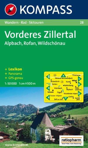 Vorderes Zillertal, Alpbach, Rofan, Wildschönau: 1 : 50 000. Mit Panorama. Wander-, Bike- und Skitouren. GPS-genau
