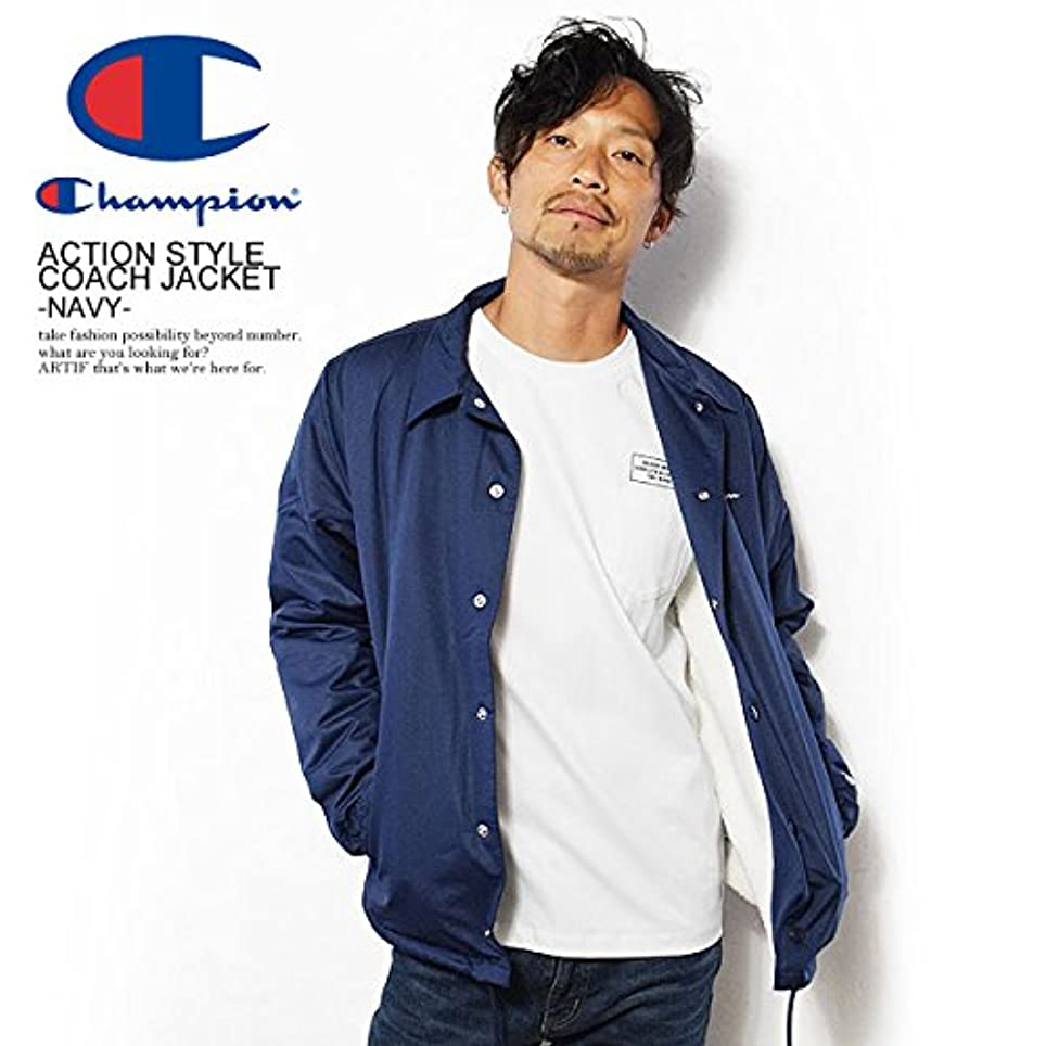 膨らみ配送積分(チャンピオン)CHAMPION ACTION STYLE COACH JACKET -NAVY- c3-l610