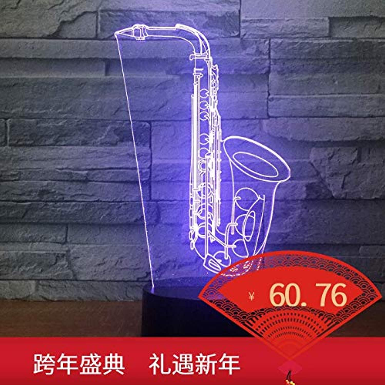 Kreative Produkt bunte 3D Nachtlampe Touch Fernbedienung Multi-Funktions Acryl Tischlampe, bunt  Blautooth-Audio