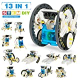 Pickwoo Solar Roboter Kinder - STEM Robot Science Kit 13-in-1 Education Konstruktionsspielzeug ab 8 Jahre -199 Pieces DIY Building Toy for Kid Boy Toys 8-12 Year Old
