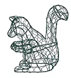 Squirrel 8 Inches High Topiary Frame, Handmade Animal Decoration