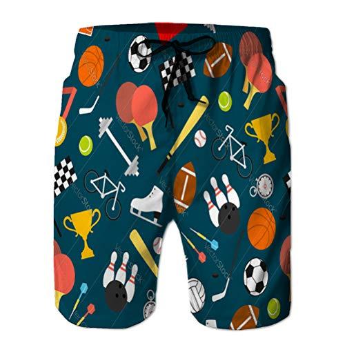 Xunulyn Pantaloncini da Mare da Uomo Pantaloncini da Bagno Pantaloncini da Surf Attrezzatura Sportiva e Motivo Senza Cuciture