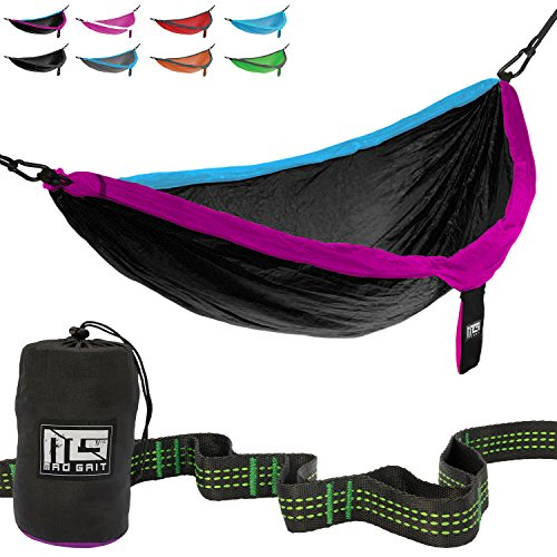 Mad Grit Double Parachute Camping Hammock with Straps & Carabiners