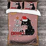 Juego de edredón Queen Cat is This Jolly Suficiente, lujoso juego de cama suave y cómodo, juego de colcha de microfibra para todas las estaciones, dormitorio, año nuevo regalo