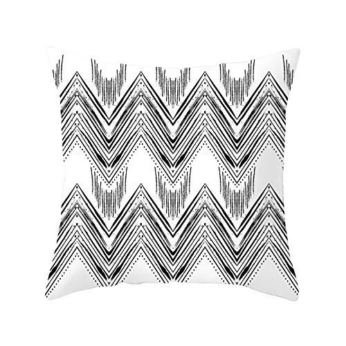 Funda de Cojín Decorativos Funda de Almohada Patrón abstracto Cuadrado Terciopelo Suave Cojines Decoracion con Cremallera Invisible para Sofá Cama Decor Hogar Funda de Cojín M6384 Pillowcase,45x45cm
