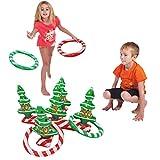 Ringwurfspiel Wurfspiel Werfen Aufblasbare Weihnachtsbaum mit Ringen Für Kinder und Erwachsene...