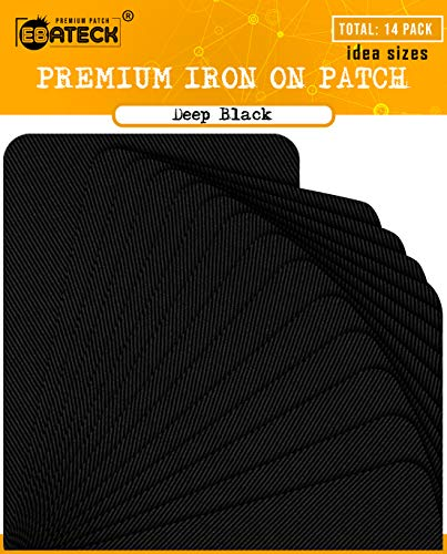 For Sale! Ebateck Iron On Patches Black Denim for Clothes, Fabric Repair Patch kit for Clothing Pant...