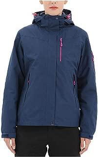 FYXKGLa Women's Outdoor Sports Jacket Three-in-one Warm Mountaineering Jacket Waterproof Jacket (Color : Blue, Size : XXL)