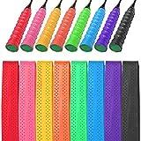 WXJ13 8 PCS Tennis Racket Grip Tape PU Badminton Racquet Grip Squash Grip